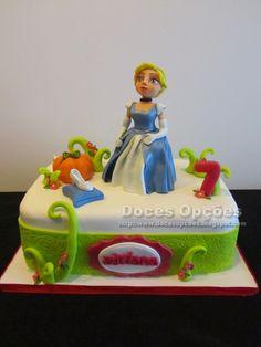 Doces Opções: Bolo de aniversário Disney Cinderela
