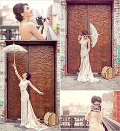 diy wedding dress. this dress doesnt actually look that hard to make.