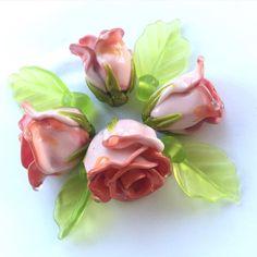 #roses #flowers #handmade #handmadebeads #lampwork #PetrovnaLampwork #my365beads2016 #etsyseller #etsy @etsy