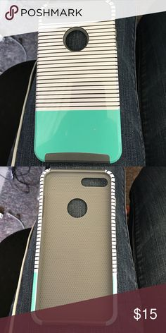iPhone 7plus case Good condition , one little spot that's not blue. It's white . Pretty much new taking offers, will trade for something else Accessories Phone Cases