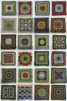 crocheted granny square patterns
