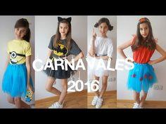Disfraces caseros de última hora, para carnaval, con tutu y sin coser, de Olaf, Minion y emoticono - YouTube