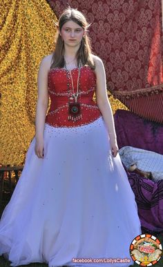 """(6)...Just as the Fairy Princess was gasping in astonishment, a pretty fairy in a sparkly red and white dress appeared saying, """"Did I hear an enchanted creature in distress?""""  #WenatcheeRenaissanceFaire"""