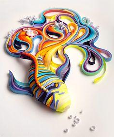 Russian artist Yulia Brodskaya makes beautiful 3D artworks out of paper