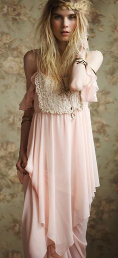 chiffon flutter slip dress
