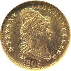 1806 five dollar gold
