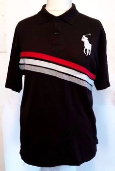 POLO RALPH LAUREN BIG PONY  SHIRT Faded black  Short Sleeve Men size XXL #RALPHLAUREN #PoloRugby