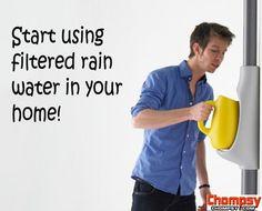 filtered rain water