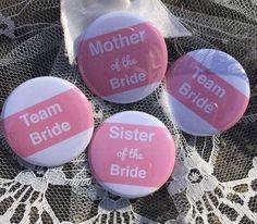 Team Bride, Muffin ink Wedding badges