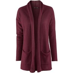 H&M Cardigan ($19) ❤ liked on Polyvore featuring tops, cardigans, h&m, sweaters, outerwear, jackets, burgundy, purple top, purple cardigan y h&m cardigan