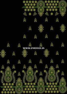 Saree Embroidery Design, Folk Embroidery, Embroidery Patterns, Cross Stitch Patterns, Machine Embroidery, A4 Paper, Needle And Thread, Silk Sarees, Jay