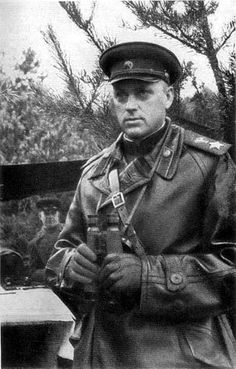 World War II, in Russia – the Great Patriotic War (22 June 1941 – 9 May 1945). Marshal of the Soviet Union Konstantin K. Rokossovsky. 1944.