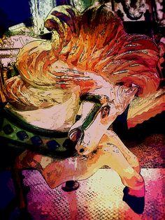 Carousel horse 5-11-13.  Digitally altered photos by PSOVART or Patty Sue O'Hair - Vicknair