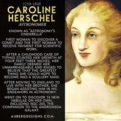 2015 Women's History Month STEM Biography Series Roundup For Women's History Month I posted daily biographies of women scientists. In case you couldn't tell by my Women in STEM jewelry series, I'm pretty obsesse Great Women, Amazing Women, Super Women, Caroline Herschel, History Facts, History Quotes, Art History, History Icon, History Major