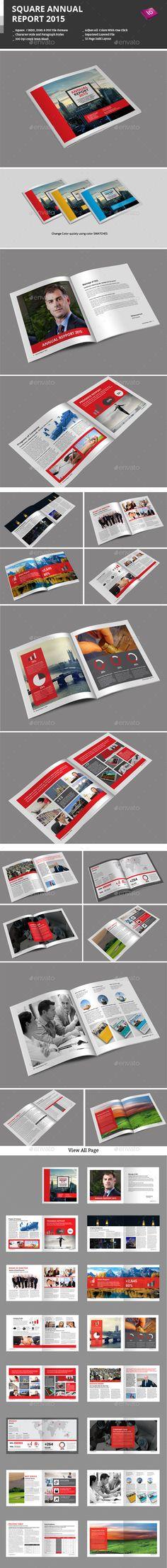 Annual Report Square Template 2 Annual reports, Squares and - annual report template