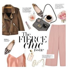 """""""The fierce chic"""" by punnky ❤ liked on Polyvore featuring RED Valentino, Edun, Chanel, Fendi and Haute Hippie"""