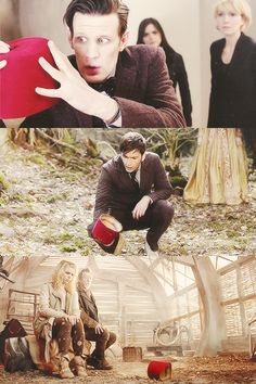 """I love how 11 is like """"My Precious"""" 10 is like """"Oh, well that's interesting, a fez."""" and the War Doctor and the Moment/Rose are like """"Are you picking it up 'cause I'm not picking it up."""""""