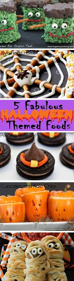 Scattered Thoughts of a Crafty Mom: 5 Fabulous Halloween Themed Foods