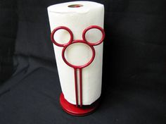 MICKEY MOUSE Icon Red Paper Towel Holder     for Kitchen OR Bath
