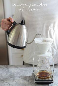 {Coffee Must-Haves:Bona Vita Water Kettle, Hario Drip Tray Coffee Dripper, Hario Scale}