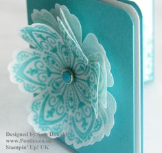 Pootles Stampin Up Vellum showcase - beautiful!! Using SU Mixed Bunch Stamps