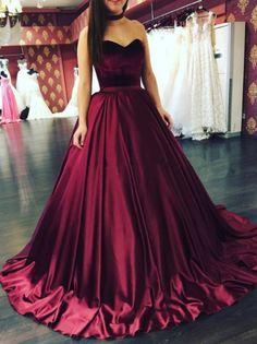 Burhundy wedding dresses