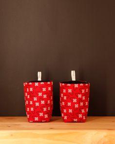 Umzi Fabric Storage Basket - Red - $12.95 #homedecor #fabricbasket #homestorage