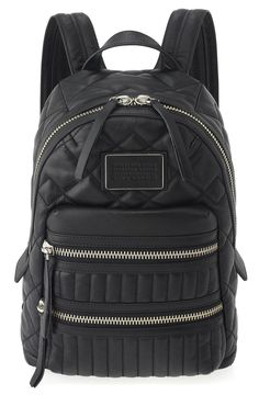 Marc by Marc Jacobs Dome Biker Quilted Backpack in Black