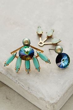 Caicos Mismatched Earrings #anthropologie