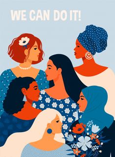Vector illustration with women different nationalities and cultures. - Buy this stock vector and explore similar vectors at Adobe Stock Woman Illustration, Digital Illustration, Fish Illustration, International Womens Day Poster, Posters Vintage, Vintage Logos, Vintage Typography, Logos Retro, Protest Posters