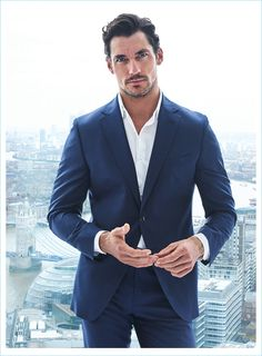 David Gandy on the cover of the April issue of Codigo Unico. David is photographed by Hunter and Gatti. David Gandy Suit, David James Gandy, David Gandy Style, Handsome Men In Suits, Famous Male Models, Men Photoshoot, Photography Poses For Men, Mens Fashion Suits, Gentleman Style