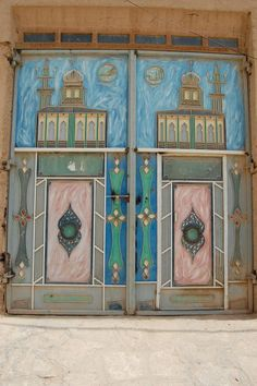 Beautiful Doors in Hadhramout, Yemen. (V)