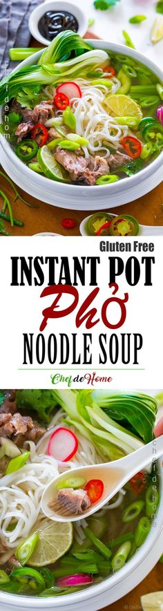 Pho Vietnamese Noodle Soup with rich and delicious broth