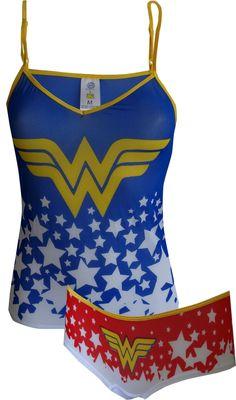 8973747a2c2ac WebUndies.com Dc Comics Wonder Woman Mesh Cami  amp  Panty Set Supergirl  Outfit