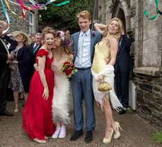 About Time the Movie Red Wedding Dress