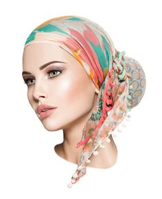 Navy Handmade Non Slip Headscarf