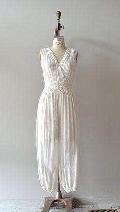 vintage 1970s jumpsuit / 70s cotton gauze jumpsuit / by DearGolden, $188.00