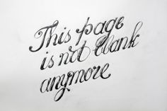 This page is not blank anymore by Jin Bae, via Behance