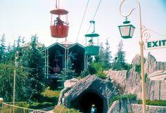 Fantasyland Skyway Station - Disneyland 1959 ~ I loved this ride