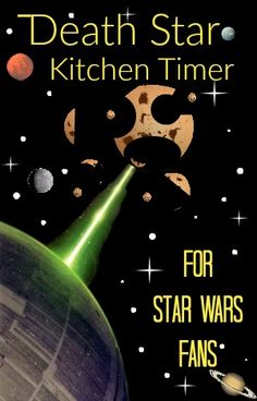 Bring the dark side into your kitchen with this Star Wars Death Star Kitchen Timer with lights and sounds-  Makes a fun gift for May the 4th Day!