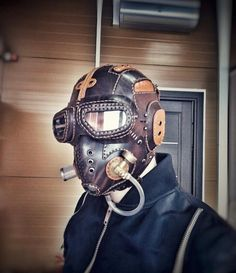 Steampunk Armor, Steampunk Goggles, Mad Max Mask, Leather Mask, Leather Wallet, Steampunk Accessories, Cool Masks, Cyberpunk Fashion, Post Apocalyptic