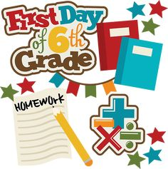 First Day Of 6th Grade SVG school svg collection school svg files for scrapbooking