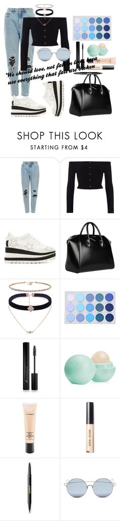 """""""Oh, his eyeshadow"""" by masha-vin ❤ liked on Polyvore featuring River Island, STELLA McCARTNEY, Givenchy, Forever 21, Eos, MAC Cosmetics, Bobbi Brown Cosmetics and For Art's Sake"""