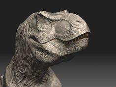 Dinosaurs in zbrush. T Rex Jurassic Park, Jurassic Park World, Dinosaur Images, Dinosaur Art, Jurrassic Park, Fierce Animals, Underwater Animals, Jurassic World Fallen Kingdom, Dinosaur Skeleton