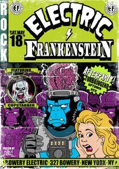 #electricfrankenstein #eccomics #rocknroll #rockposters #gigposter #concertposter #poster #design #art #misterblack