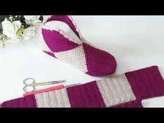 Knitted Slippers, Crochet Slippers, Filet Crochet, Knit Crochet, Bridal Makeup Looks, Sell Gold, Yarn Crafts, Lana, Baby Knitting