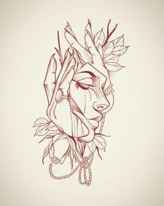 Rtee Tattoos of Hannah Tattoo Sketches, Tattoo Drawings, Body Art Tattoos, New Tattoos, Art Sketches, Sleeve Tattoos, Art Drawings, Stencils Tatuagem, Tattoo Stencils