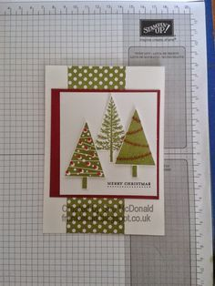 Festival of Trees, Stampin' Up!, Teeny Tiny Sentiments card by Sue McDonald