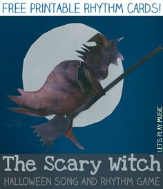 The Scary Witch Halloween rhythm game from our Songs For Halloween Series is a fun game for Halloween. It is both educational and also a bit daring too! Preschool Music Activities, Halloween Activities, Lets Play Music, Music For Kids, Halloween Music, Halloween Series, Halloween Party, Halloween Ideas, Music Lesson Plans