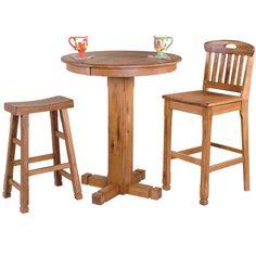 2 Sedona Slatback Stools Rta 1821ro Round Pub Table Sets